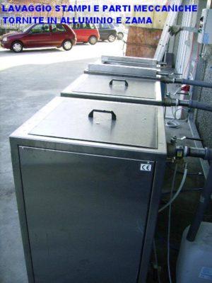 lavaggio stampi impianto a 3 fasi