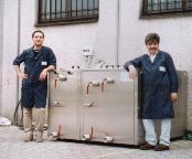 Impianto pulizia stampi per termoformatura